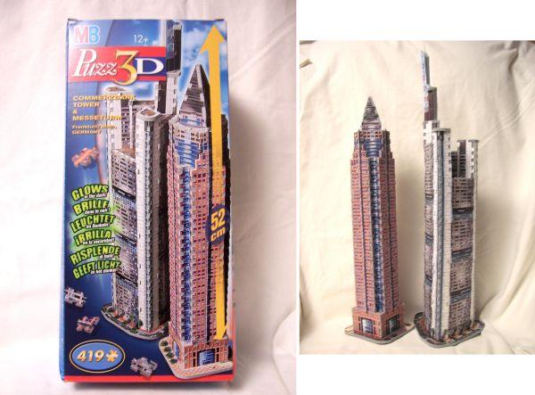 Wrebbit 3d Puzzles Commerzbank Tower & Messerturm With 419