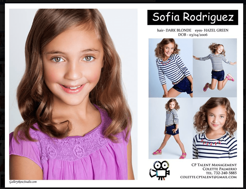 Ford Modeling Comp Card Examples