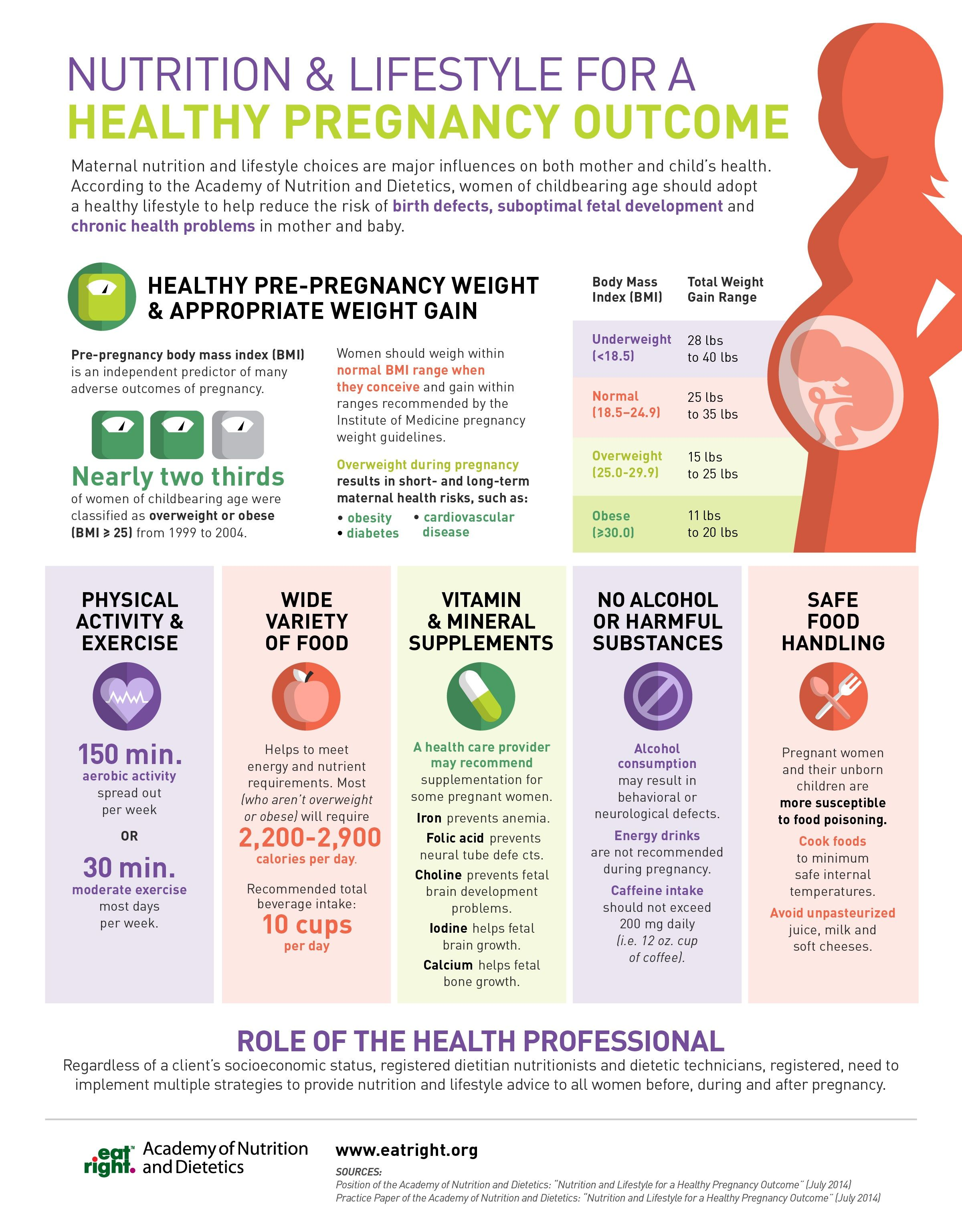Nutrition And Lifestyle For A Healthy Pregnancy