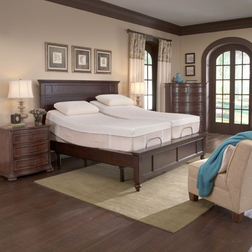 Modern Split King Adjule Bed With Nightstand And Chaise