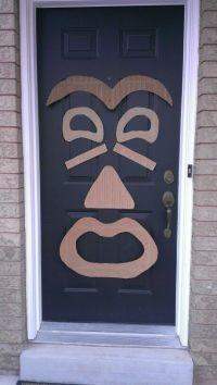 Tiki door decoration. Great to greet your guests for a