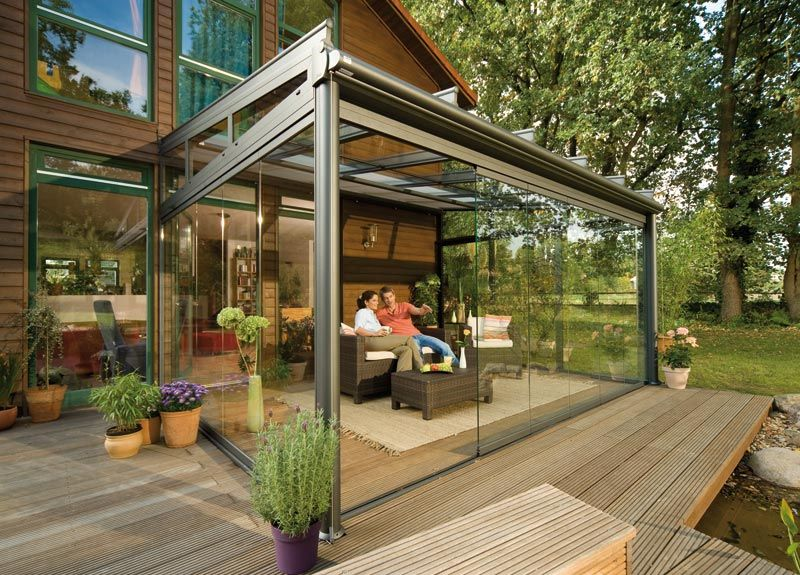 20 Beautiful Glass Enclosed Patio Ideas Roof Covering Patios
