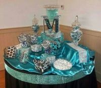 sweet 16 teal party decorations | Sweet 16 Candy Bar ...