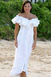 Dresses, Hawaiian Wedding Dresses With Sleeves: Casual ...