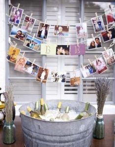 Diy photo decor to dress up  drink station great idea for more also rh in pinterest