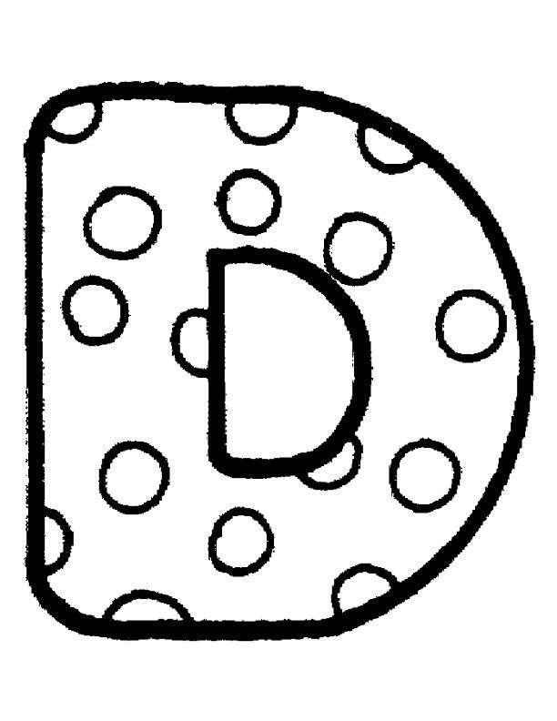polka dot bubble letters f