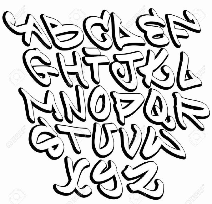 Vector Clipart Of Graffiti Font Alphabet Letters Hip Hop Type Grai Design Search Clip Art Ilration