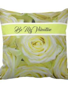 Romantic valentines yellow roses throw pillow personalize design idea new special custom diy or cyo also rh pinterest