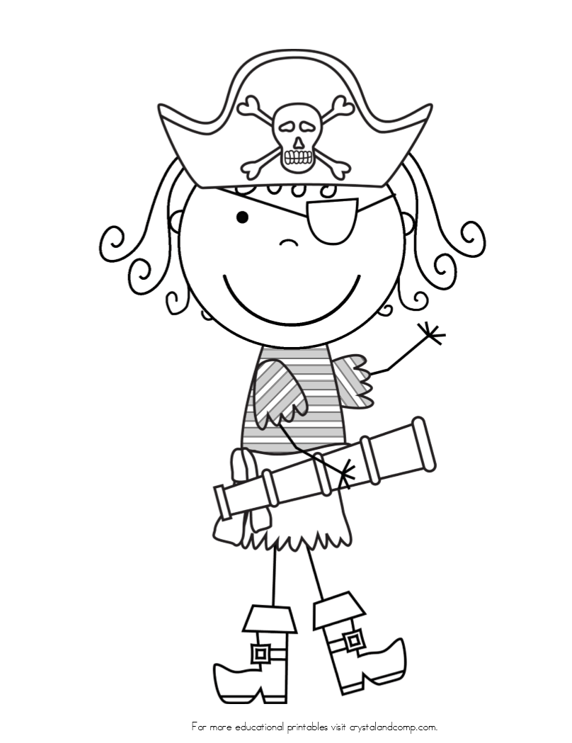 gingerbread pirates coloring pages