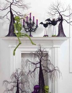 Halloween decorations ideas  inspirations super cool mantel decorating also rh pinterest