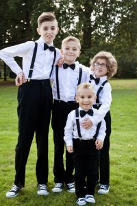 Oakwood House wedding, page boys with black tie, page boy ...