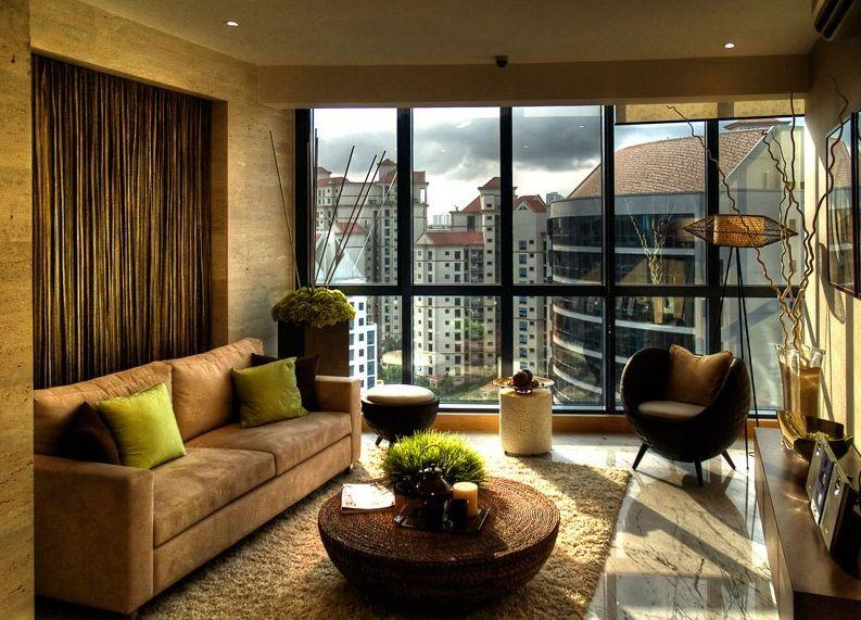 Modern Zen Look Apartment Living Room: Zen Look Bamboo