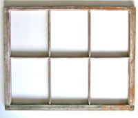 Vintage Wood Six Pane Window Frame ready for Mirror or