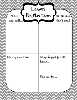 Lesson reflection freebie by www