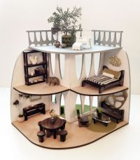 Sustainable Mid-Century Modern Dollhouse and Furniture ...