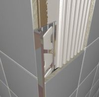 Chrome Plated Brass Square Edge Tile Trim 2.5m