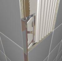 Chrome Plated Brass Square Edge Tile Trim 2.5m