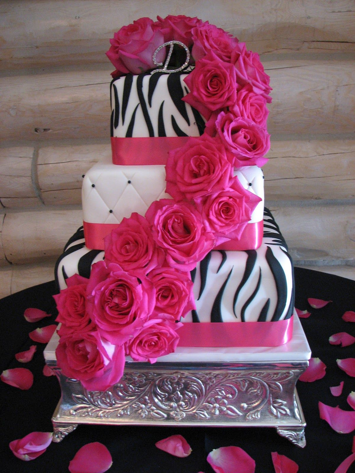 Fuchsia Wedding Cakes