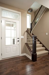 Love the color of the walls for the entry way. Maybe make ...