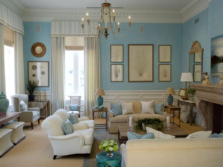 French Country Cottage Chic Living Rooms
