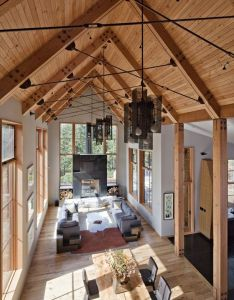 know dad likes the all wood ceiling at land multi purpose space is economical tahoe ridge house by wa design inc donner california usa also miss not quite my style but could rh pinterest