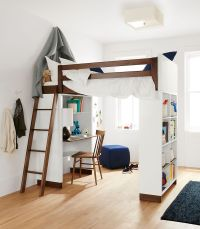 Moda Modern Wood Kids Loft - Moda Loft Beds with Desk and ...