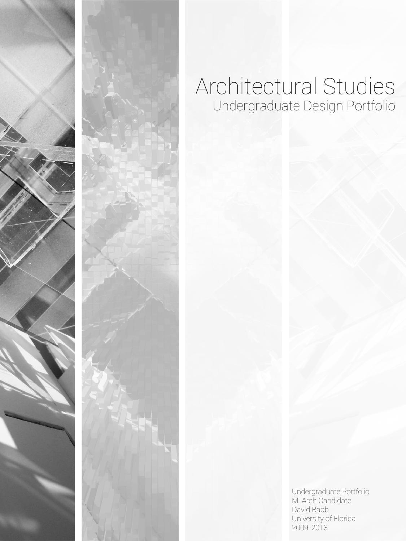 Architectural Undergraduate Studies  Architecture portfolio Architecture and Portfolio ideas