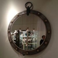 Fab industrial mirror glammed up at Luna Bella in ...