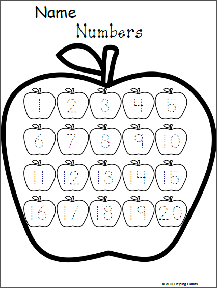 Free Numbers Worksheet