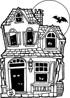 Easy Haunted House Drawing Google Search Drawing Pinterest