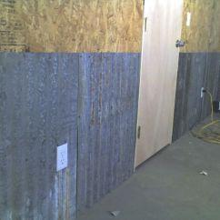 Corrugated Steel Chair Rail Macrame Lawn Metal For Interior Walls The Garage Journal