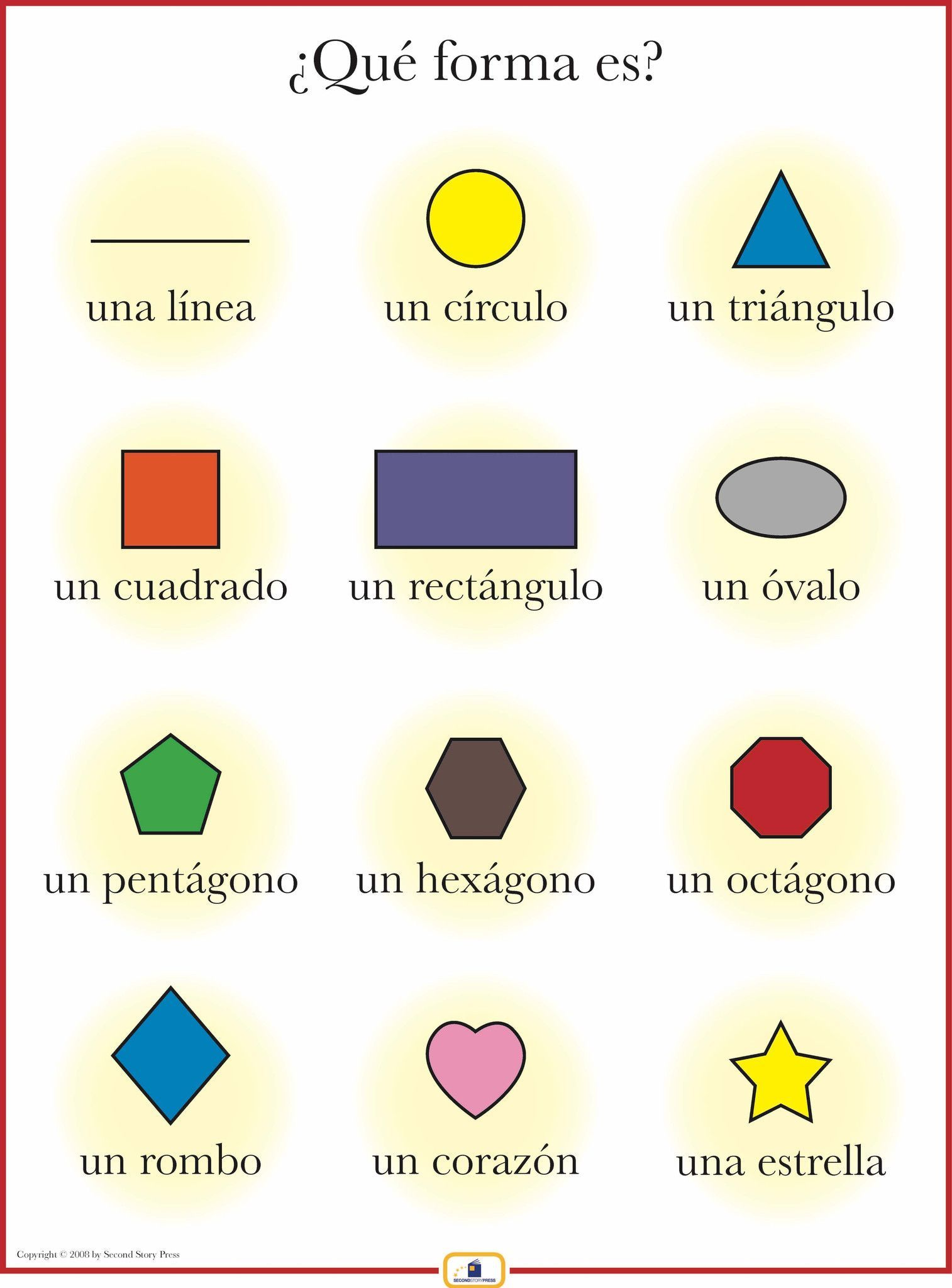 Spanish Shapes Poster