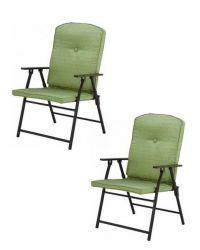 Outdoor Folding Padded Green Chair Pool Deck Garden # ...
