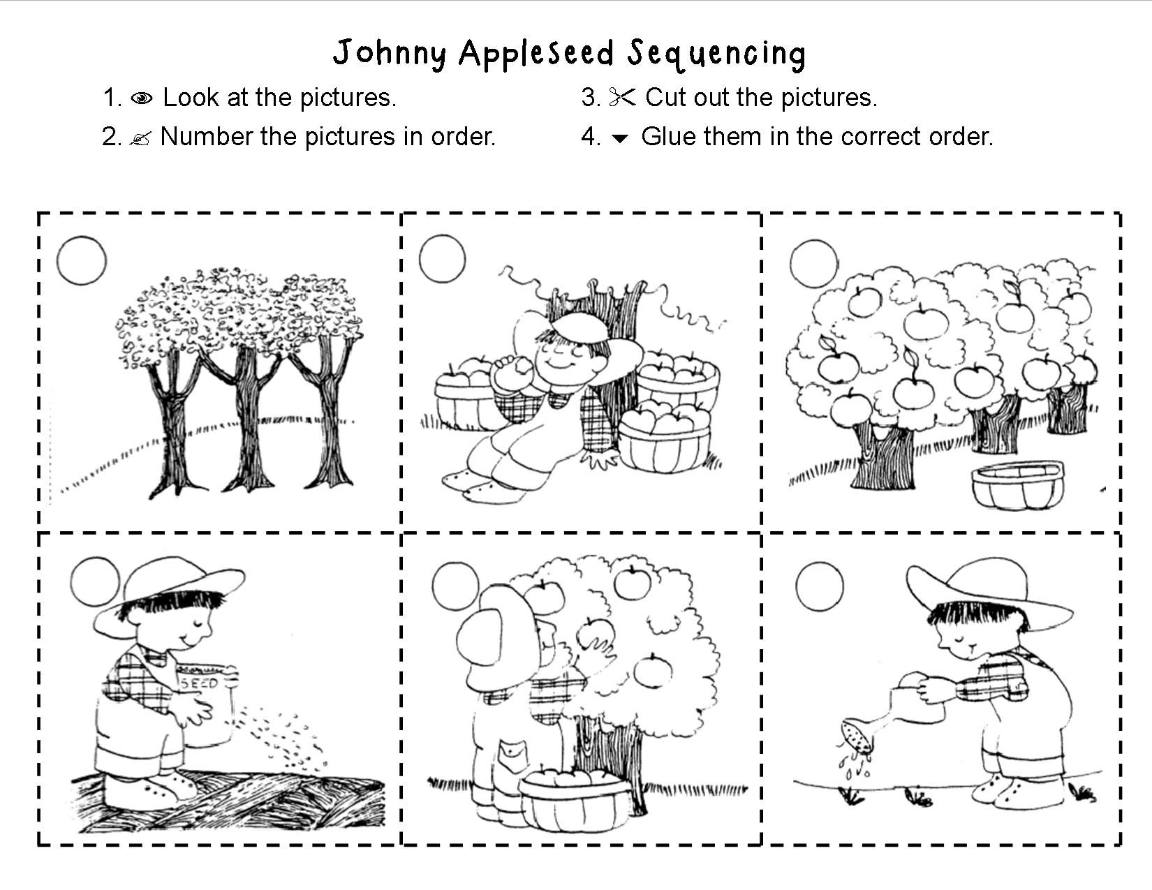 Johnny Appleseed Sequencing Made For 1st Grade