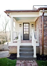 Side Porch. You can use wood door on a porch with ...