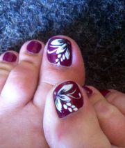 summer holiday toe nail art