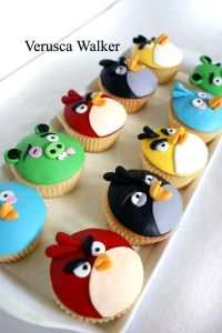 Angry Birds Cupcakes on Pinterest