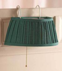 Bedroom Lamp Hang on Headboard Hunter Green Reading in Bed ...