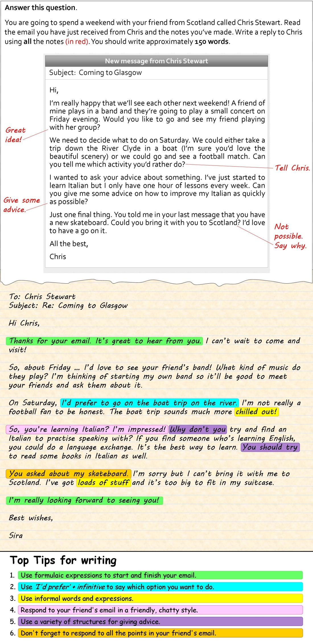 How to write an informal email english language and