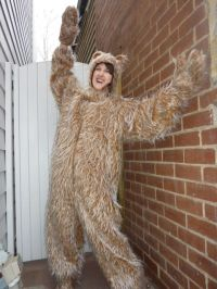 fuzzy bear adult costume | Fancy Dress Costume Hire ...