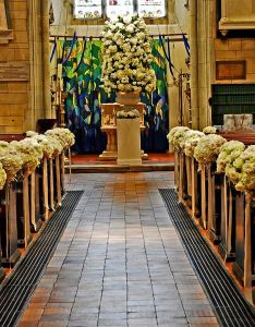 Wedding ceremony aisle decorations also flowers church green rh pinterest