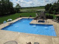 Custom L Shaped Pool designed by Aqua Pools and Built in ...
