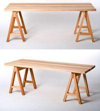 Saw Horse Table | Design Stuff I Like | Pinterest | Horse ...