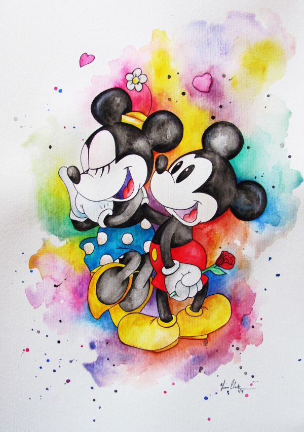 Disney Mickey Mouse Watercolor