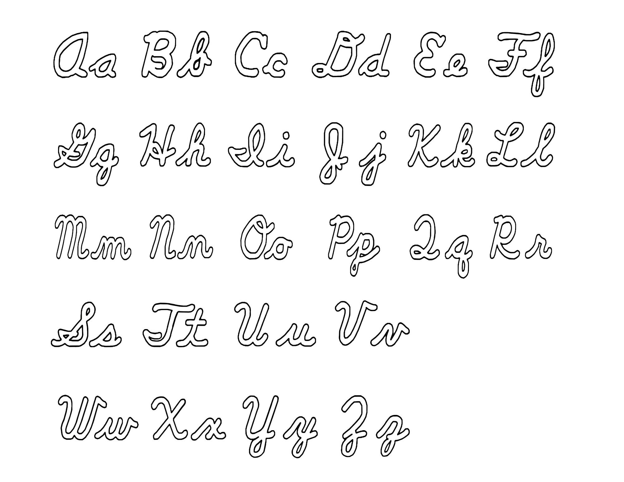 Uppercase And Lowercase Alphabet