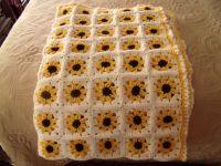 Adorable yellow sunflower crochet baby blanket/afghan. $30 ...