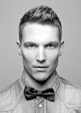 2 Jagged Peaked Cut Model New Hairstyle Pinterest Bow Ties