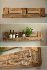 Pallet Rustic Shelf  Pallet Ideas | Repurposed, Pallets ...
