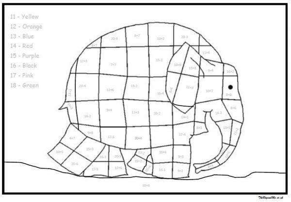 Elmer The Elephant Maths Activities (Free Downloadable