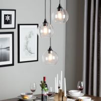 love the light! Overstock $171 Uptown 3-light clear globe ...